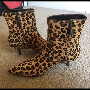 Cole Haan Fiona Air Leopard Calfhair Short Boots